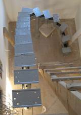 сборка металлического каркаса лестницы